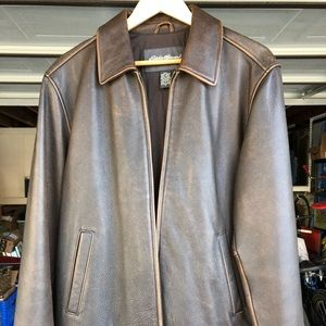 Eddie Bauer Brown Leather Jacket